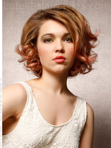 bob haircut curly hair round face the 15 most flattering haircuts for round faces hair