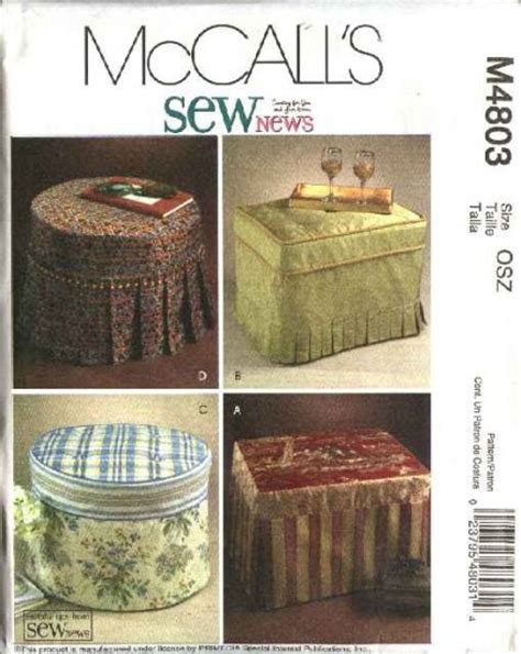 directions for making an ottoman slipcover mccall s sewing pattern 4803 sewnews round rectangle