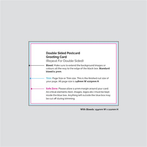 Sided Greeting Card Template by Sided Postcards Print