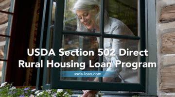 Section 502 Direct Rural Housing Loan usda direct program loan term archives usda loan