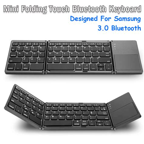 mini foldable touch 3 0 bluetooth keyboard for samsung dex win ios android system alexnld