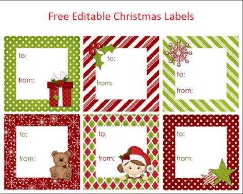 editable christmas labels  latest  editable christmas labels christmas gift