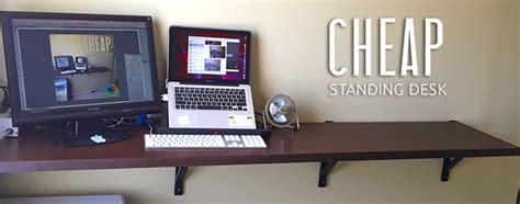 cheap standing desk diy solution for work whirl