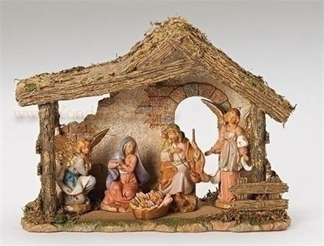 5 quot fontanini nativity set 5 pc w resin stable 54463 new
