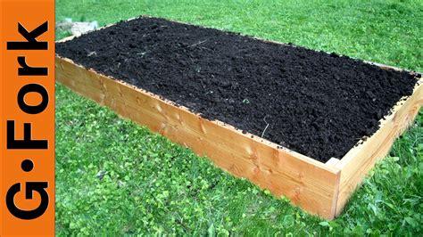 easy raised garden bed simple raised garden bed plans gardenfork tv youtube