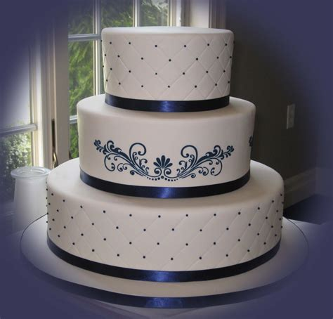 navy blue wedding cakes