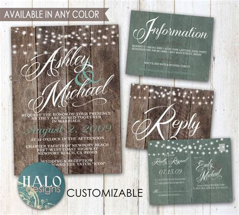 rustic printable wedding invitation kits rustic wedding invitations plank wood save the date