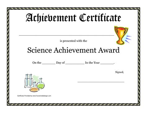 science certificate templates science fair award certificate template free printable