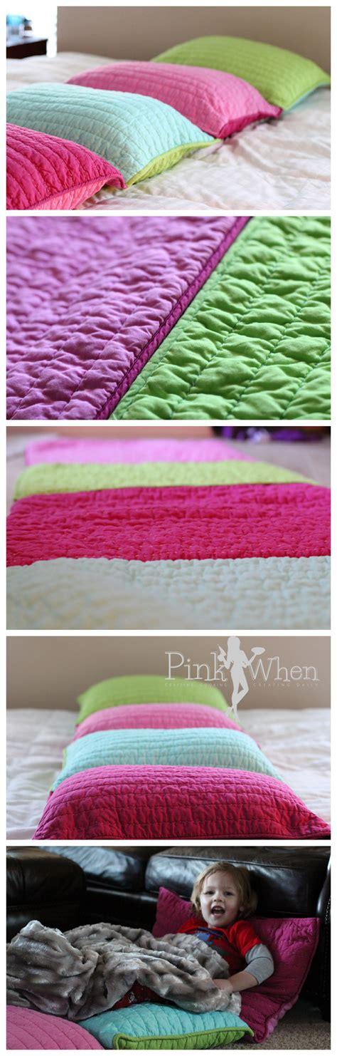 pillow bed diy diy pillow bed tutorial pinkwhen