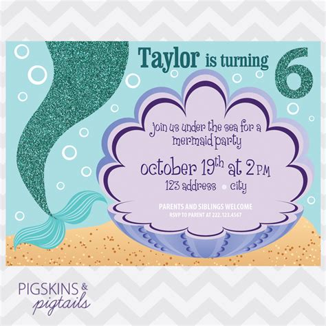 mermaid invitation template mermaid birthday invitations theruntime