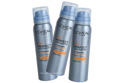 Loreal Aqua Sunscreen l oreal uv city mist spf 50 beautygeeks