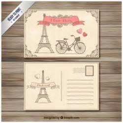 postcard invites templates free retro postcard vector free