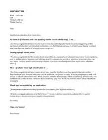 How To Write A Cover Letter For College by Scholarship Letter Sles Scholarship Letter For