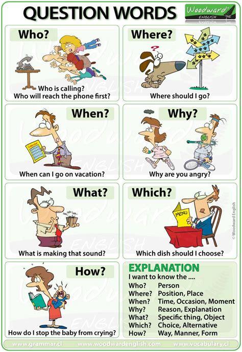question words in esl kido education