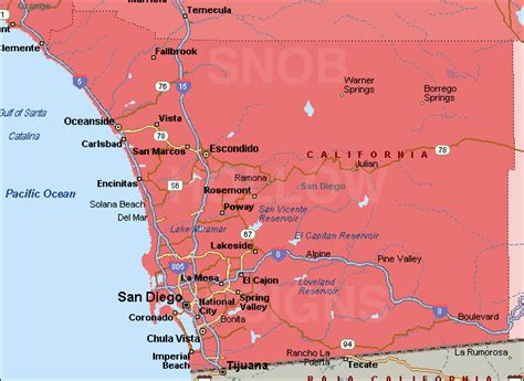 san diego county map san california map by county images