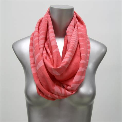 coral infinity scarf womens neck wrap circle scarf