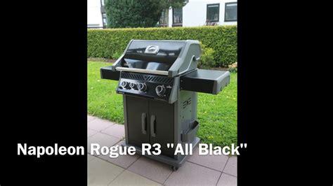 gasgrill napoleon rogue r3 napoleon rogue r3 quot all black quot gasgrill