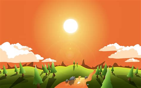 background design in illustrator tutorials how to create a landscape wallpaper for your desktop