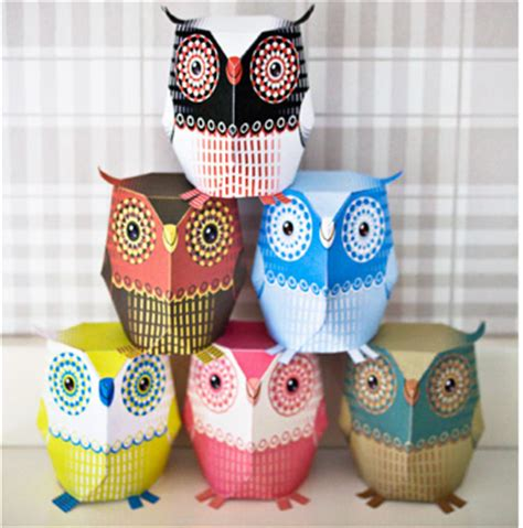 3d Paper Crafts Printable - 3d owl template printable