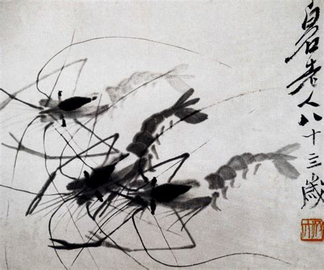 watercolor tattoos preise shrimps by qi baishi galleryintell