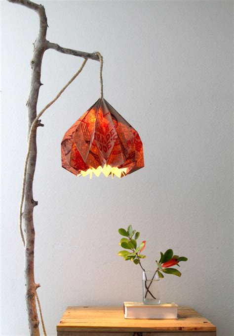 Diwali Home Decoration Idea by Pj 264 An Upcycled Link Party A Bag Lampshade Plus
