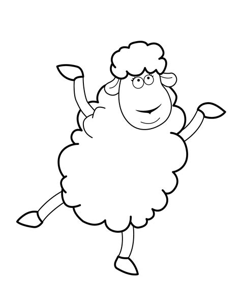 large sheep coloring page free printable coloring pages for kids animals