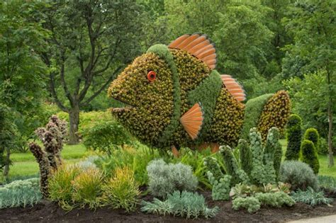 amazing plant sculptures in mosaiculture festival in