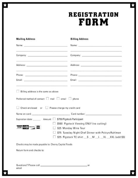 Free Template For Registration Form doc 585610 application form template 10 free word pdf
