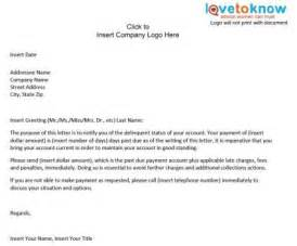 collections notice template professional letter sles letter exle