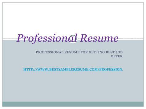 sle resume powerpoint presentation sle resume