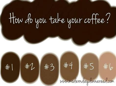 how do you your you how do you take your coffee my of choice