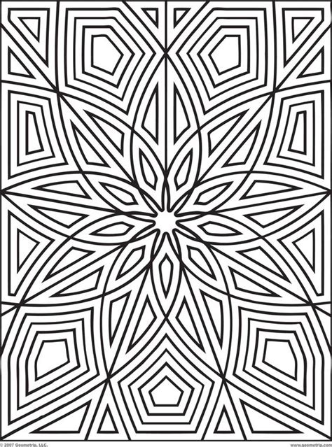 cute geometric coloring pages free printable geometric cute design coloring books