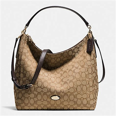 Coach Celeste Hobo Sign Khaki Chalk 2 celeste convertible hobo in signature f36183 light gold khaki brown coach handbags