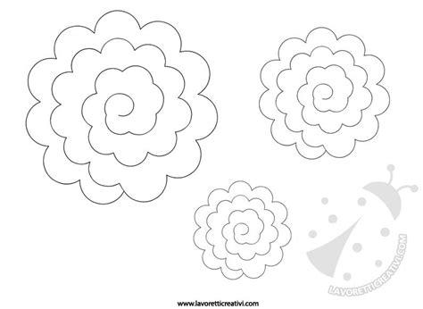 fiori di feltro cartamodelli sagome per fare di feltro lavoretti creativi