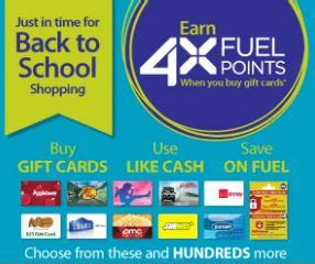 Kroger Gift Cards 4x Fuel Points - kroger 4x fuel points on gift cards thru 9 15 other promotions southern savers