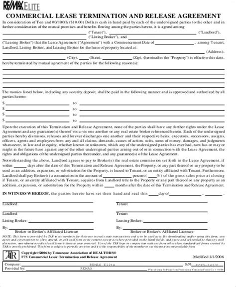 Commercial Lease Termination Agreement by 10 Commercial Lease Agreement Sle Free Sle Exle Format