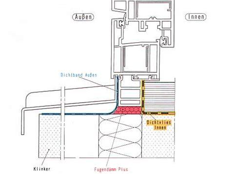 fensterbrett nass fenstereinbau so in ordnung durchgehende dichtung folie