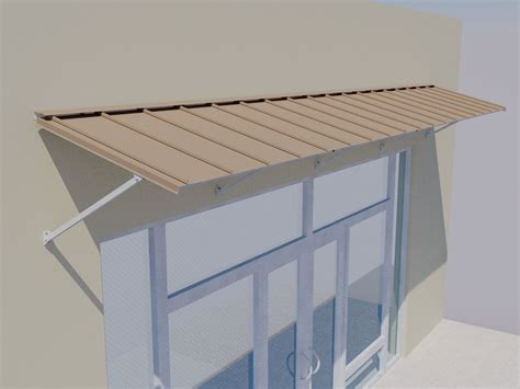 Door Awnings by Standing Seam Door Awning