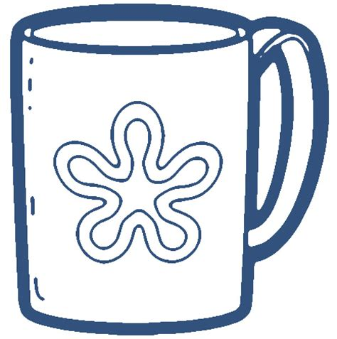 free black and white coffee mug clipart