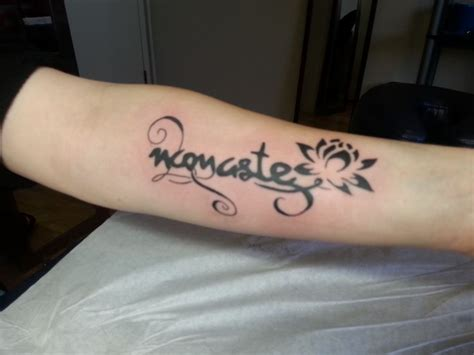namaste tattoos namaste and lilly kya dubois sink n ink tattoos