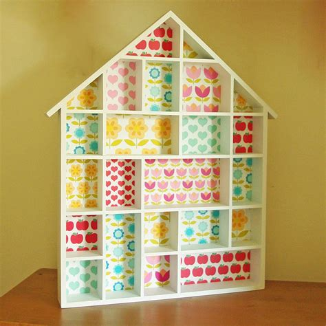 dolls house shelves retro flower print dolls house shelves by lolly boo notonthehighstreet com