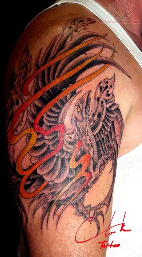 phoenix tattoos for men shoulder for