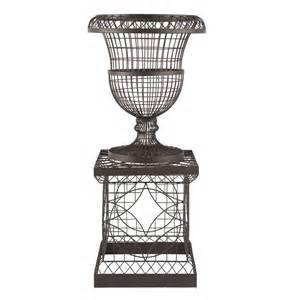 country chateau wire frame outdoor urn planter