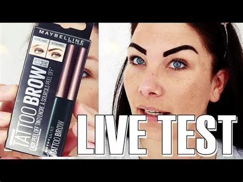 tattoo ink for eyebrows maybelline tattoo brow h 228 lt es wirklich 3 tage live