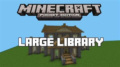 minecraft how to build a library youtube minecraft pe large library tutorial youtube