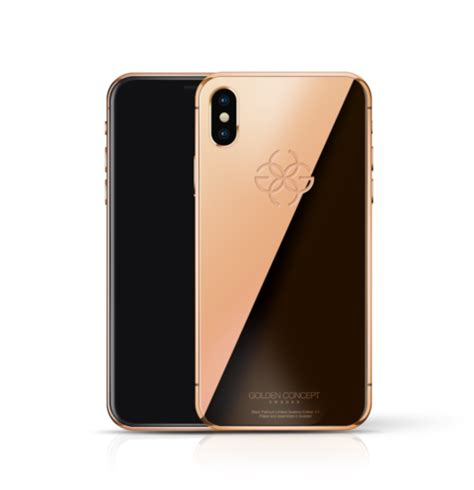 24k gold iphone xs max golden concept iphone xs edition