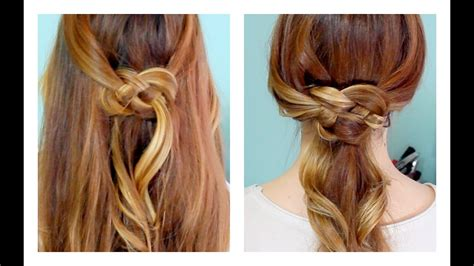 how to celtic knot half updo and ponytail