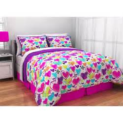 bright bedding latitude bright hearts bed in a bag bedding set walmart
