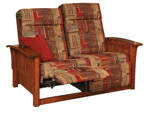 mission loveseat recliner jake s amish furniture 85 2 mission double recliner