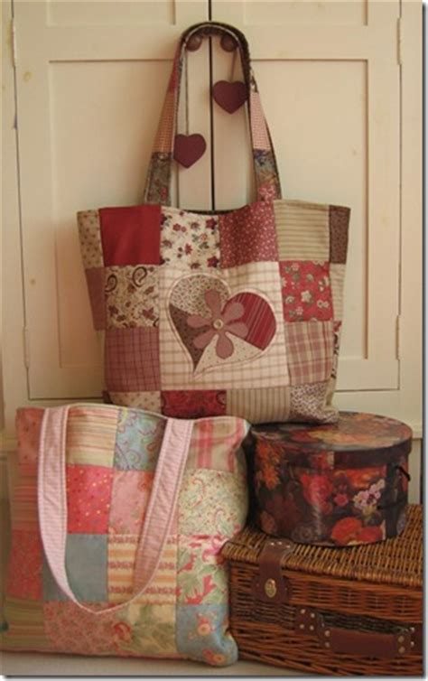 Free Patchwork Patterns For Bags - patchwork tote bag free pattern